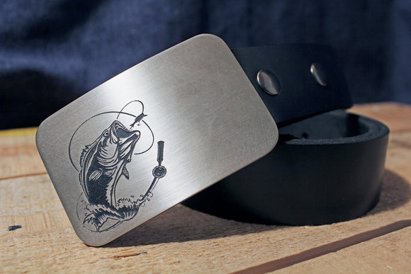 Bass Fishing Belt Buckle - Fisherman