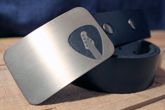 Guitarist Belt Buckle - Guitar Pick