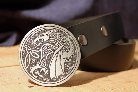 Celtic Dragon Belt Buckle
