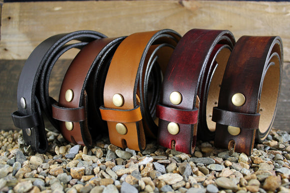 Full Grain Leather Snap-On Belt for your New Belt Buckle