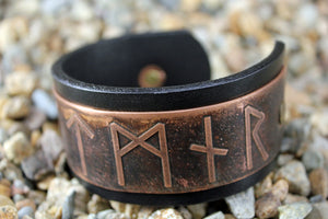 Design Your Own VIKING RUNE Solid Copper WARRIOR CUFF Bracelet
