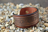 Tribal Pattern Solid Copper CUFF Bracelet