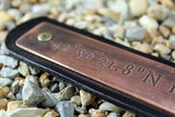 Custom Coordinates Solid Copper Bracelet