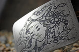 """The Birth of Medusa"" Belt Buckle - by Madeline Brown"