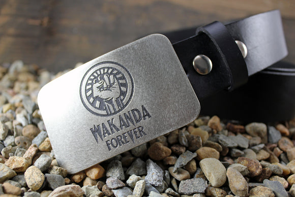 Wakanda Forever BLACK PANTHER Belt Buckle
