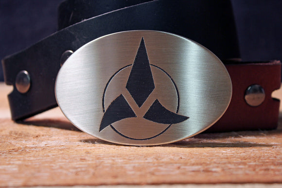 Klingon Symbol STAR TREK Belt Buckle-Metal Some Art