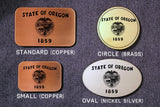 Oregon State Flag Belt Buckle-Metal Some Art