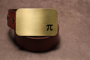 PI 3.14 MATH GEEK Belt Buckle-Metal Some Art