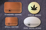 Marijuana Belt Buckle-Metal Some Art