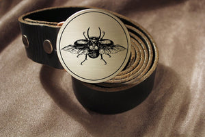 Scarab Beetle Belt Buckle-Metal Some Art