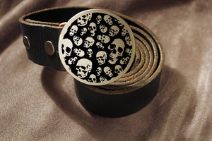 Skull Belt Buckle-Metal Some Art