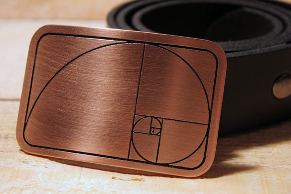 Golden Ratio/ Golden Spiral Belt Buckle-Metal Some Art
