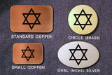 Star of David JEWISH HEBREW Belt Buckle-Metal Some Art