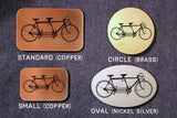 Tandem Bike BICYCLE Belt Buckle-Metal Some Art