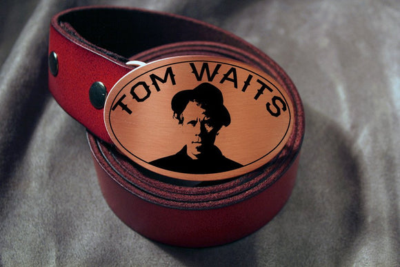 Tom Waits Belt Buckle-Metal Some Art