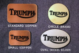 Triumph Motorcycle Belt Buckle-Metal Some Art