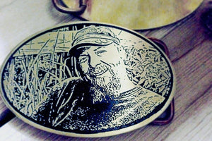 """In Memory of..."" Memorial Custom Belt Buckle-Metal Some Art"