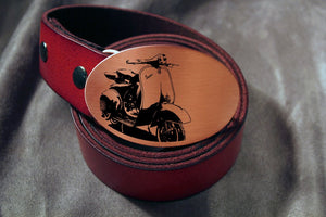 Vespa Scooter Belt Buckle-Metal Some Art