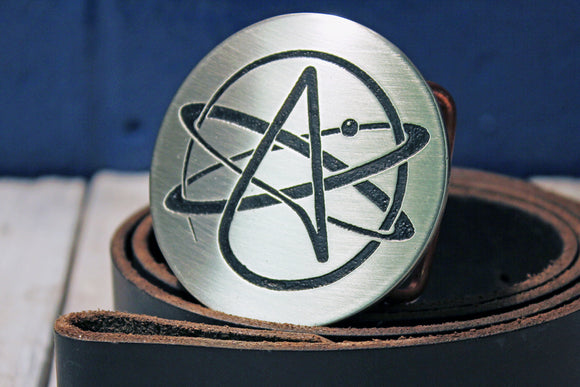 Athiest Logo Belt Buckle-Metal Some Art