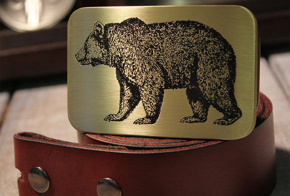 Adirondack Bear Belt Buckle-Metal Some Art