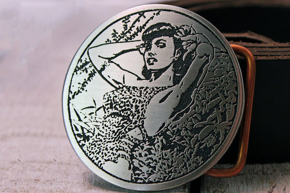 Bettie Page PIN UP GIRL Belt Buckle-Metal Some Art