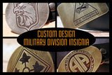 Custom ARMY DIVISION Belt Buckle-Metal Some Art