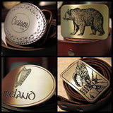 Custom Handmade Belt Buckle - Metal Some Art