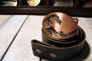 The Great Wave off Kanagawa Tsunami Belt Buckle-Metal Some Art