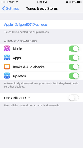 iPhone 7 auto download