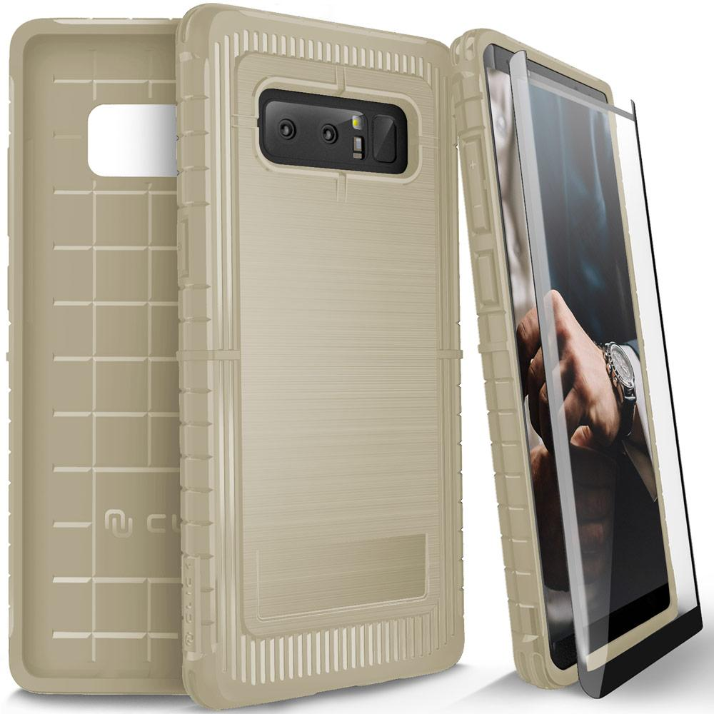 Protective, Low Profile, and Sophisticated.Introducing the CLICK CASE [DYNITE Series]. ThisSamsung Galaxy Note 8 case is the perfect platform for expressing your style. Avoid those slips out of your hand. The enhanced grip around the bumper of this case provides an anti-slip grip. Minimalistically engineered to serve a thin, low profile while fully enclosing your phone. It has surpassed through rigorous testing to ensure the protection of your Samsung Galaxy Note 8. We believe a phone case should also protect your phone screen. A full clear 0.33mm with 100% Clarity and 9H Hardness Samsung Galaxy Note 8 tempered glass screen protector is included with every purchase. DYNITE is now available in a variety of colors to express your style exactly. This case is compatible with the Samsung Galaxy Note 8. Thoroughly tested to withstand drops and falls. Minimally designed to reduce bulk and add protection. Get a good grip with the anti-slip feature around the bumper. Receive a FREE full clear