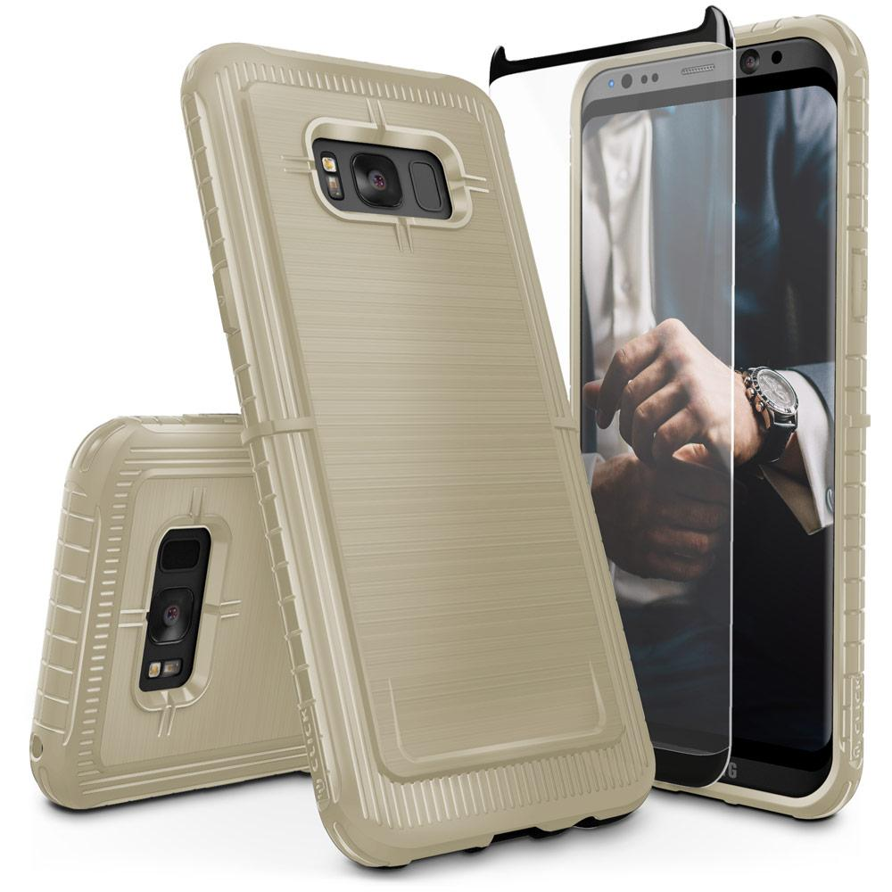Protective, Low Profile, and Sophisticated.Introducing the CLICK CASE [DYNITE Series]. ThisSamsung Galaxy S8 case is the perfect platform for expressing your style. Avoid those slips out of your hand. The enhanced grip around the bumper of this case provides an anti-slip grip. Minimalistically engineered to serve a thin, low profile while fully enclosing your phone. It has surpassed through rigorous testing to ensure the protection of your Samsung Galaxy S8. We believe a phone case should also protect your phone screen. A full clear 0.33mm with 100% Clarity and 9H Hardness Samsung Galaxy S8 tempered glass screen protector is included with every purchase. DYNITE is now available in a variety of colors to express your style exactly. This case is compatible with the Samsung Galaxy S8. Thoroughly tested to withstand drops and falls. Minimally designed to reduce bulk and add protection. Get a good grip with the anti-slip feature around the bumper. Receive a FREE full clear Samsung Galaxy S