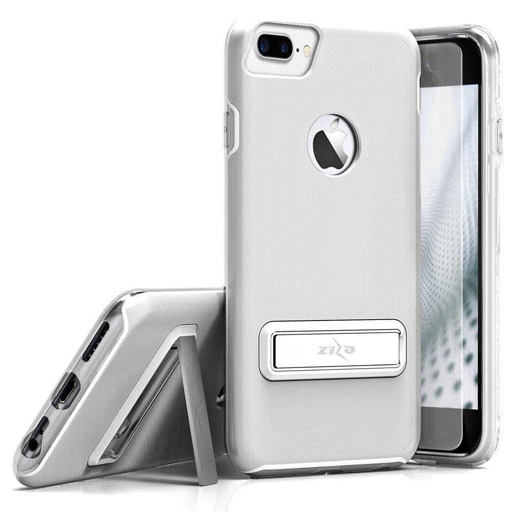 Zizo Elite Series Case for iPhone 7 Plus, Slim Fit Case with Magnetic Kickstand and Tempered Glass