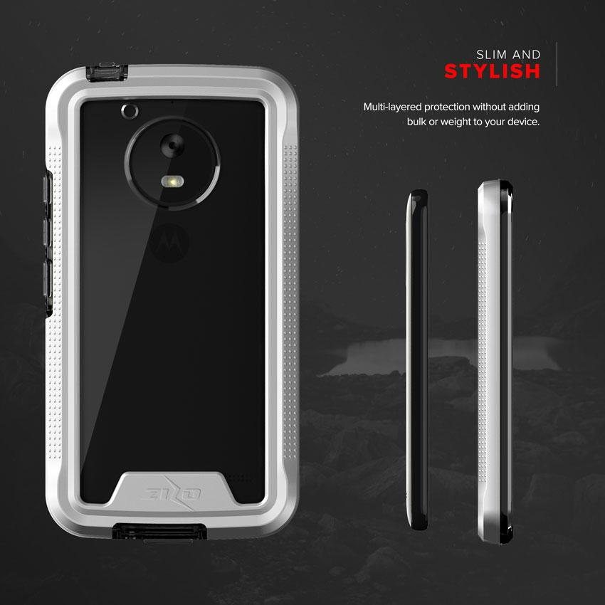motorola e4 phone case. zizo ion case for motorola moto e4 - military grade drop tested + tempered glass screen protector phone p