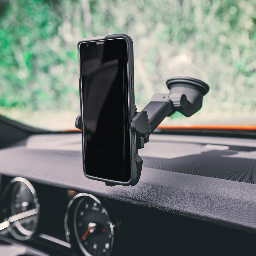 Universal Suction Cup Car Mount for Most Popular Smartphones with Retractable Arm - Black ZHD-UNI02-BLK