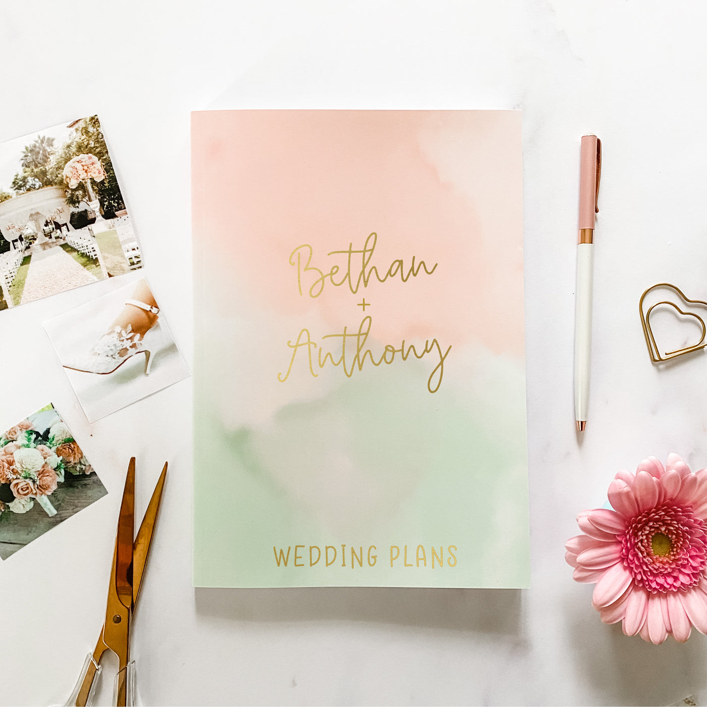 Blush and Mint Mist Wedding Planner