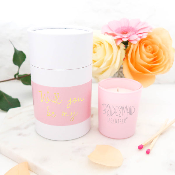 Bridesmaid Proposal Candle Gift