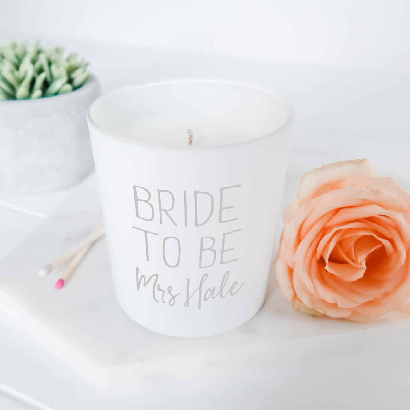 Bride to Be Candle Gift