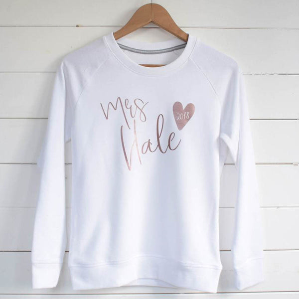 Personalised Mrs Sweater