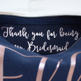 Hidden Message - Thank you Make Up Bag