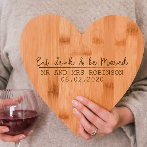 Eat, drink and be Married Chopping Board