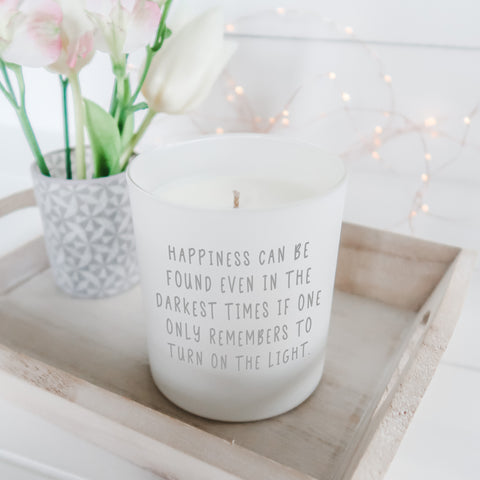 Happiness can be found Candle