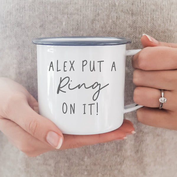 Personalised He put a Ring on it! Mug