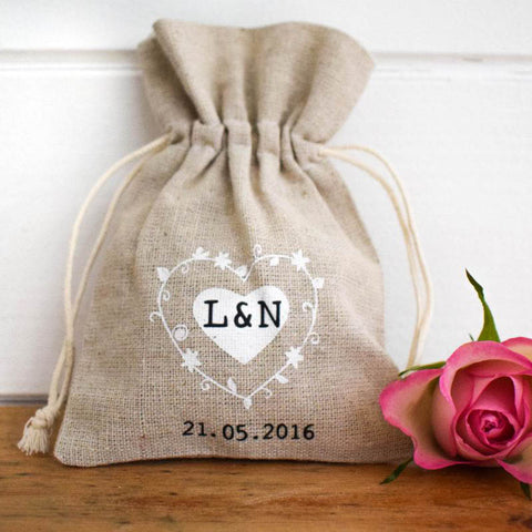 Hessian Wedding Favour Bag