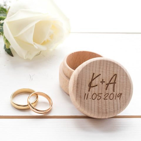 Initials and Date Ring Box