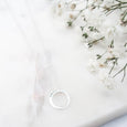 Pop the Question Sterling Silver Necklace Gift