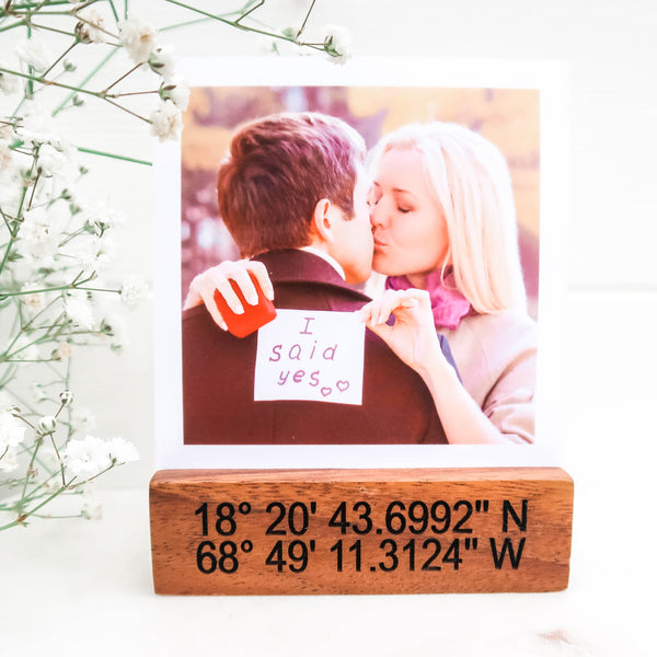 Coordinates Polaroid Photo Block