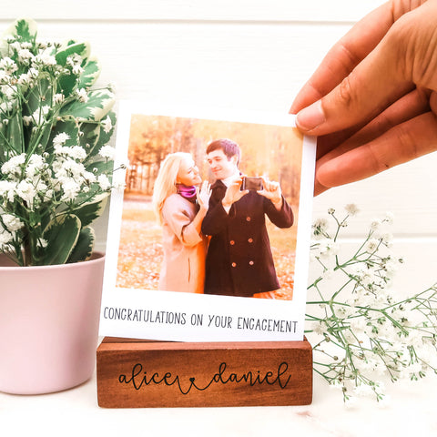Engagement Polaroid Photo Block
