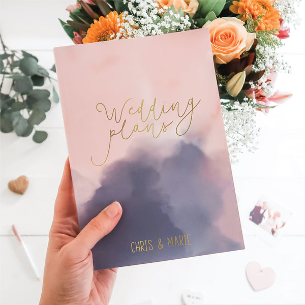 Wedding Planner Book - Blush and Navy Mist