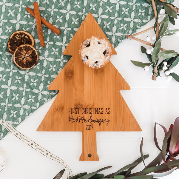 First Christmas as Mr and Mrs Chopping Board
