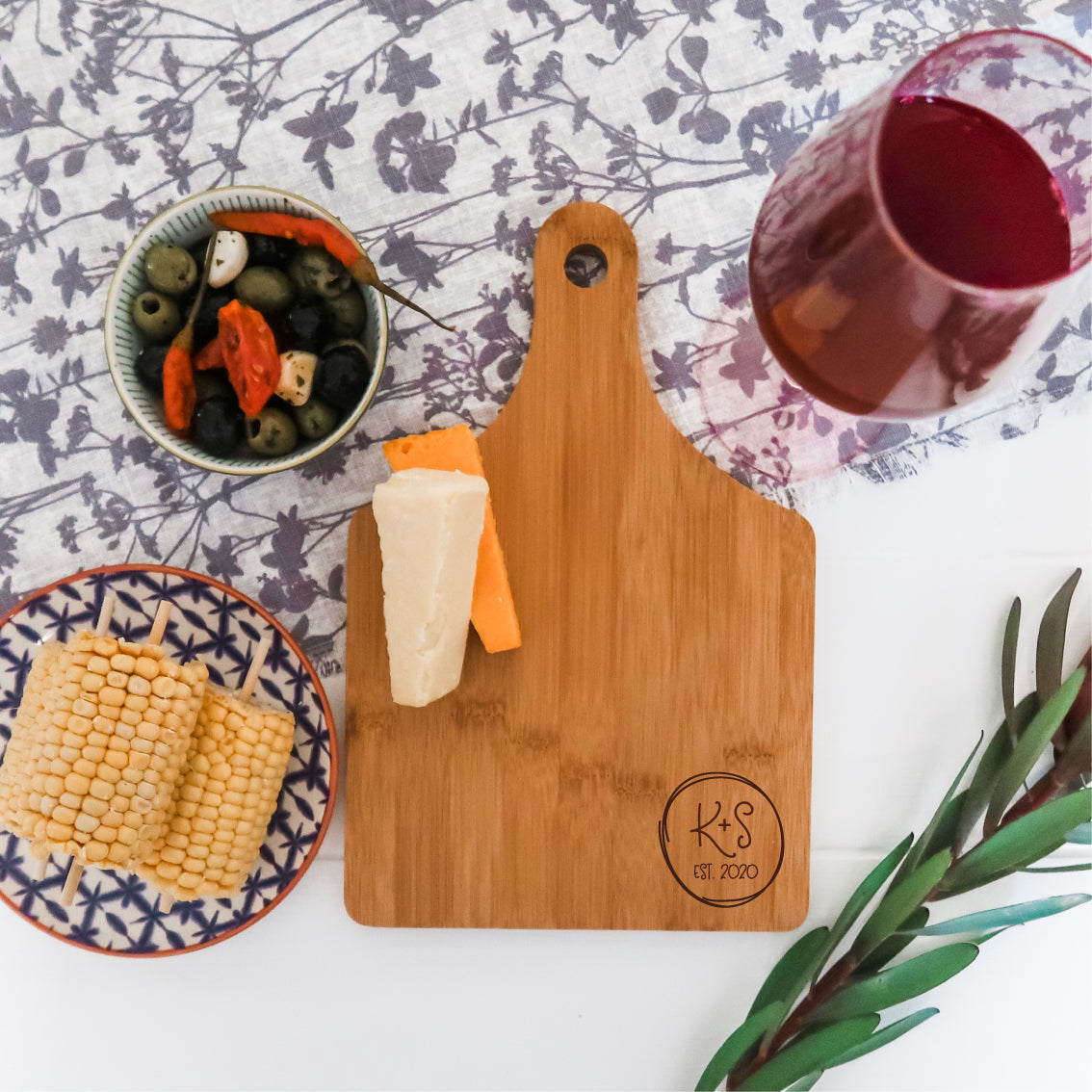 Couple's Initials Chopping Board